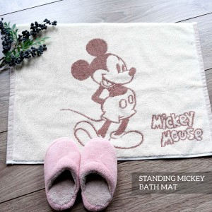 STANDING MICKEY BROWN BATHMAT