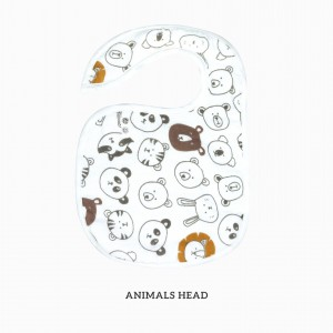 Animals Head Snappy Bib