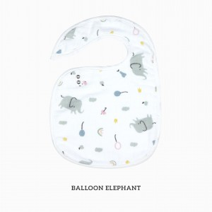 Ballon Elephant Snappy Bib