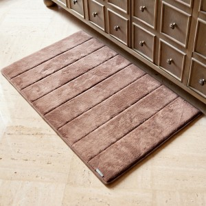Dark Chocolate Microdry Memory Foam Bath Mat