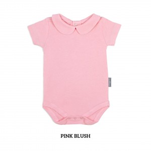 PINK BLUSH Girl Collar Bodysuit Short Sleeve (Jumper)