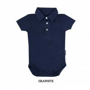 GRAPHITE Boy Collar Bodysuit Short Sleeve (Jumper)