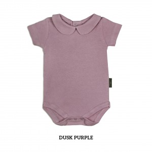 DUSK PURPLE Girl Collar Bodysuit Short Sleeve (Jumper)