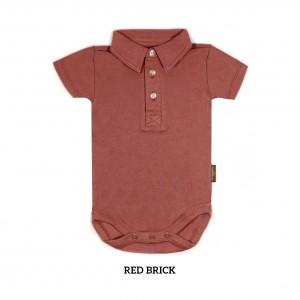 RED BRICK Boy Collar Bodysuit Short Sleeve (Jumper)