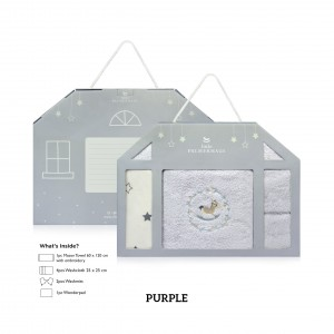 PURPLE Baby Newborn Giftset