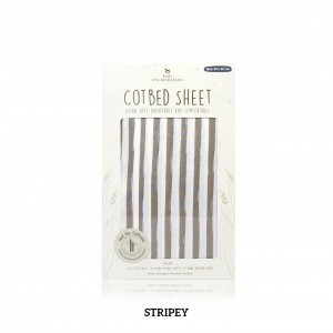 STRIPEY Cotbed Sheet