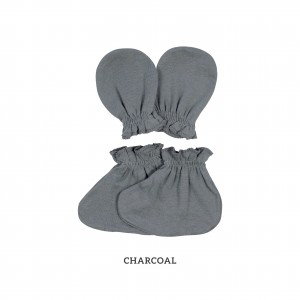 CHARCOAL Mittens & Booties