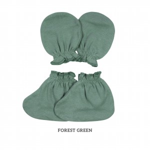 FOREST GREEN Mittens & Booties
