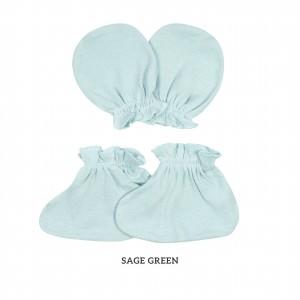 SAGE GREEN Mittens & Booties