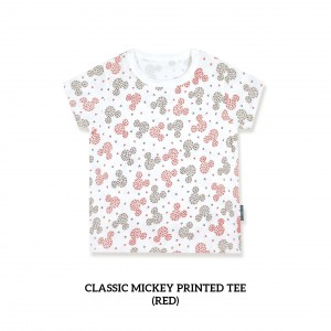 Classic Mickey Printed Tee (RED)