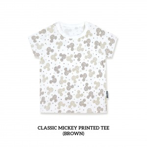 Classic Mickey Printed Tee (BROWN)