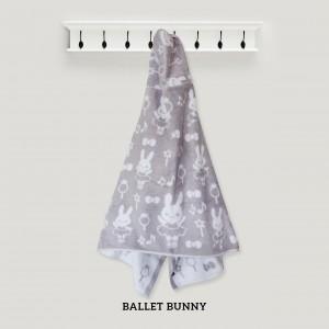 Ballet Bunny GREY Hooded Towel