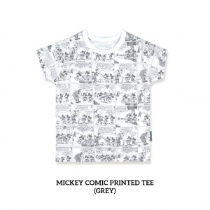 Mickey Comic Printed Tee (GREY)