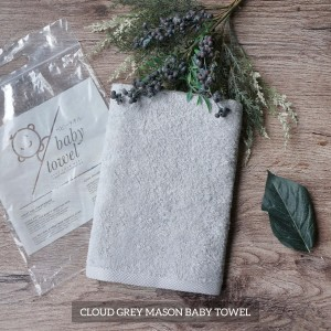 Cloud Grey Mason Baby Towel