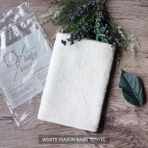 White Mason Baby Towel