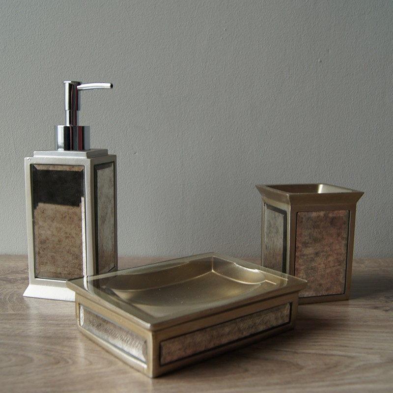 crystal bathroom accessories sets%0A Antique Glass Bath Accessories Set Of   Palmerhaus
