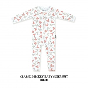 RED Baby Sleepsuit Classic Mickey