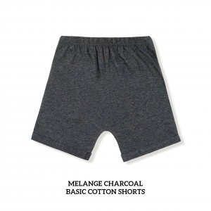MELANGE CHARCOAL Basic Cotton Short