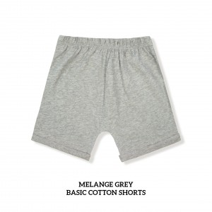 MELANGE GREY Basic Cotton Short