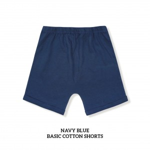 NAVY BLUE Basic Cotton Short