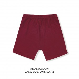 RED MAROON Basic Cotton Short