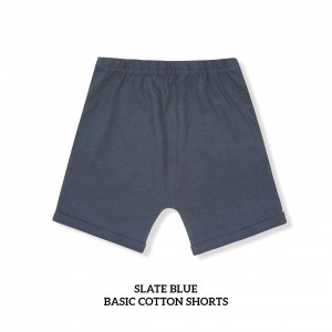 SLATE BLUE Basic Cotton Short