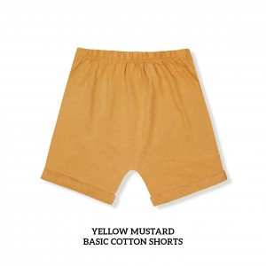 YELLOW MUSTARD Basic Cotton Short