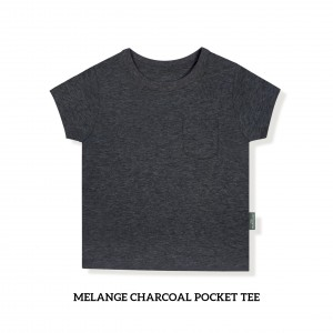 MELANGE CHARCOAL Pocket Tee