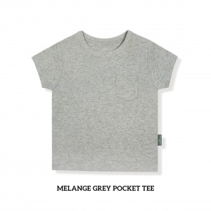 MELANGE GREY Pocket Tee