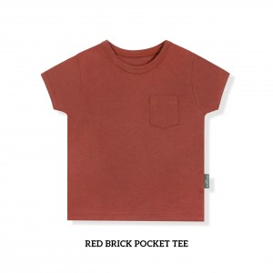 RED BRICK Pocket Tee