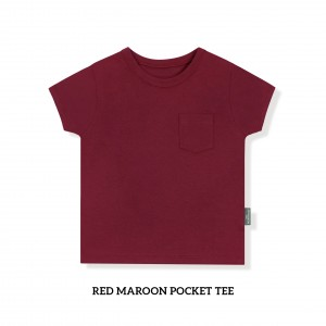 RED MAROON Pocket Tee