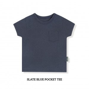 SLATE BLUE Pocket Tee