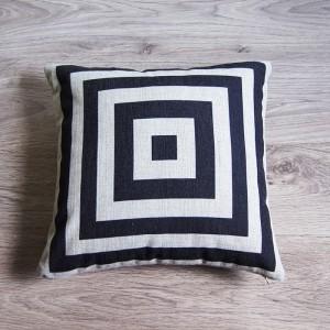 Black Square Pillow Cover