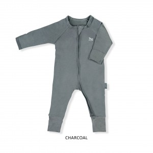 CHARCOAL Baby Sleepsuit