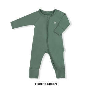 FOREST GREEN Baby Sleepsuit
