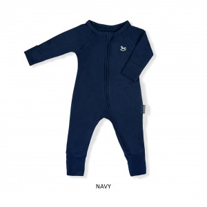 NAVY Baby Sleepsuit