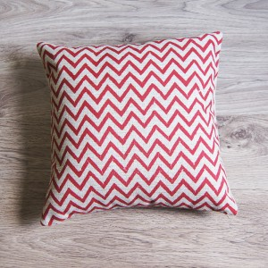 Red Small Zig Zag Pillow Cover