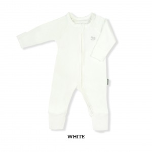 WHITE Baby Sleepsuit