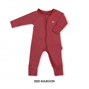 RED MAROON Baby Sleepsuit