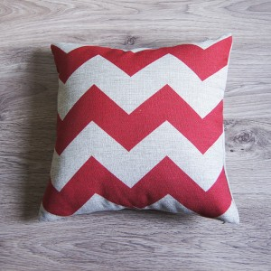 Red Large Zig Zag Pillow Cover