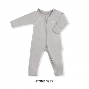 STONE GREY Baby Sleepsuit