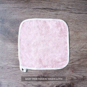 Mason Washcloth Set Of 4 Baby Pink