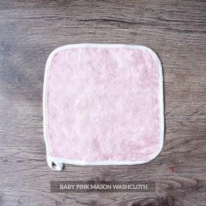 Mason Washcloth Set Of 4 Baby Pink