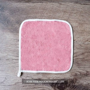 Mason Washcloth Set Of 4 Rose Pink