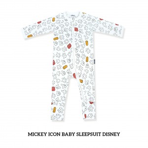 BLACK  Baby Sleepsuit Disney Mickey Icon