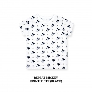 Repeat Mickey Printed Tee (BLACK)