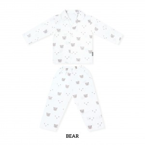 BEAR Printed Pajamas Long Sleeve Set