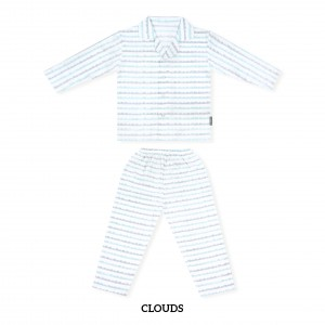 CLOUDS Printed Pajamas Long Sleeve Set