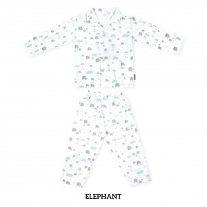 ELEPHANT Printed Pajamas Long Sleeve Set
