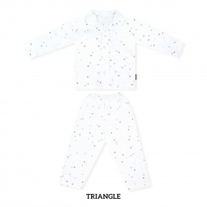 TRIANGLE Pajamas Long Sleeve Set